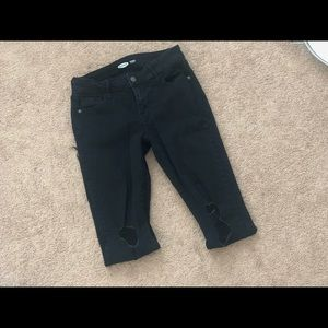 Old Navy Black Skinny Distressed Jeans